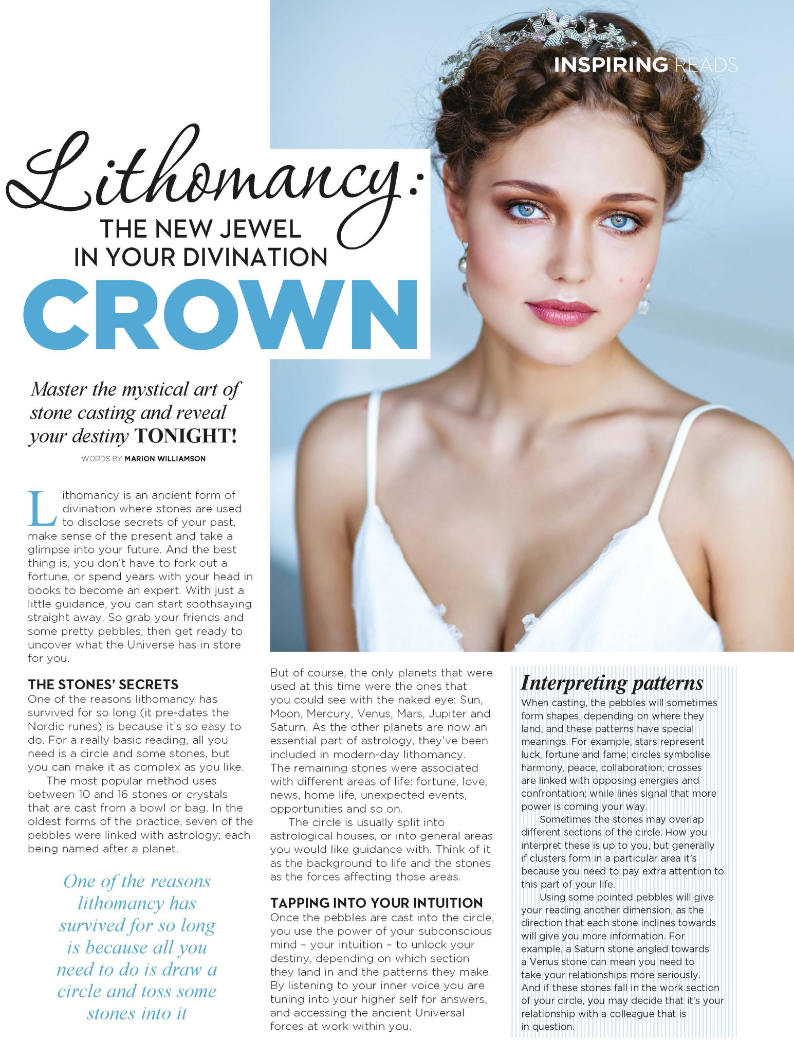 Soul & Spirit November 2015 - Lithomancy 1